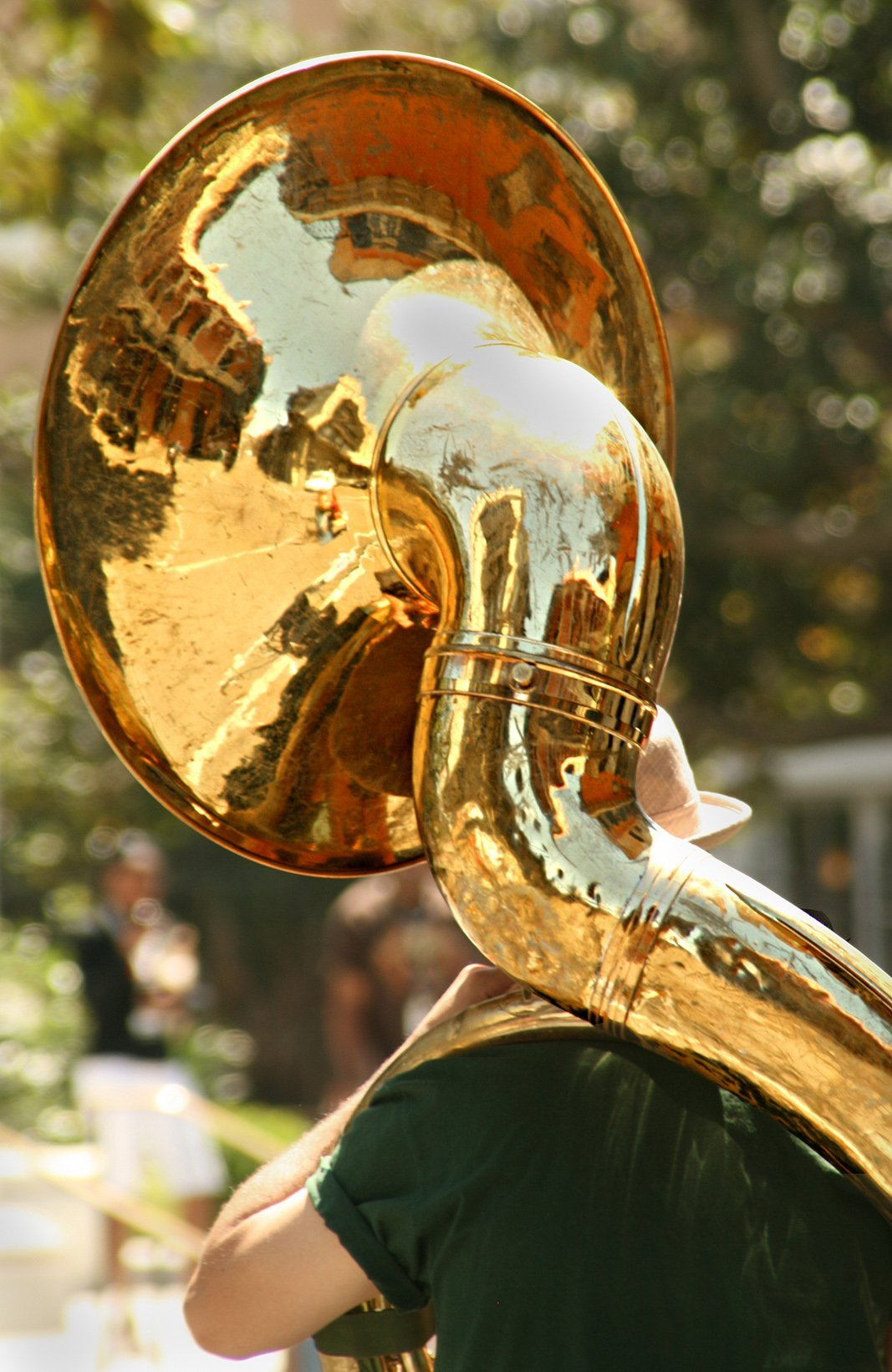 Tuba player on the streets of New Orleans