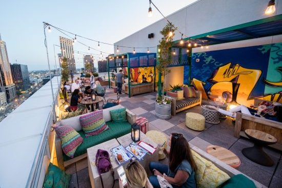 Funky decor at Monkey Board rooftop bar