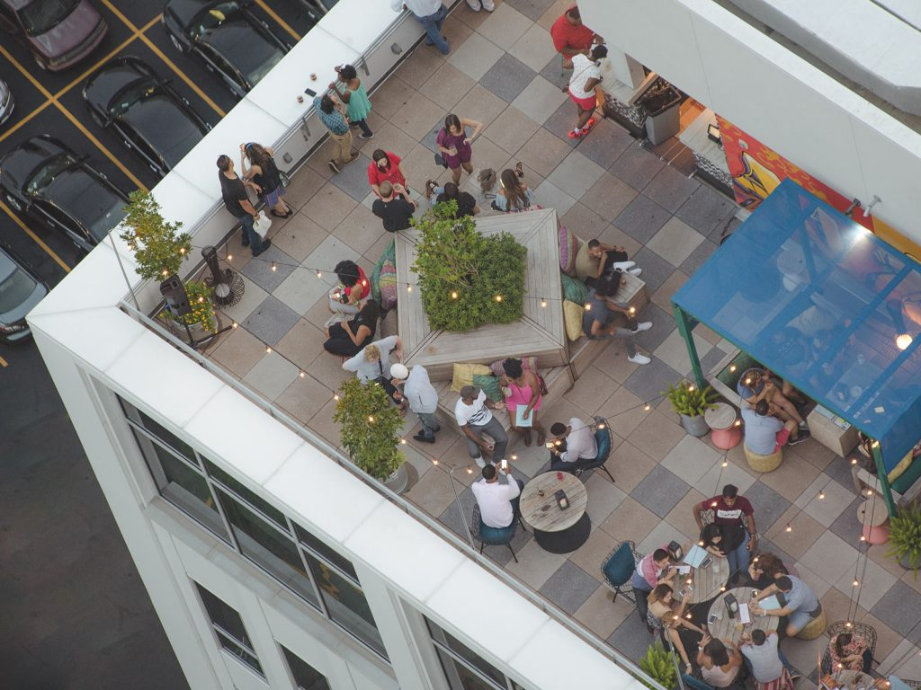 Rooftop Bar Outdoor Dining